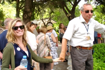 DD and our Tour Guide in Ephesus