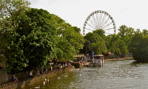 Looking beyond the beautiful River Thames to see marvelous Windsor Wheel