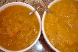 Butternut Squash Soup Blended