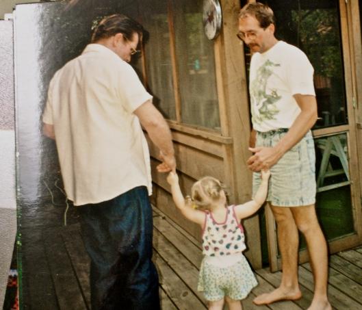 Shannon w/Grandpa & Dad