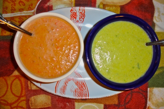 Tomato Bisque, Curry Coconut Soup